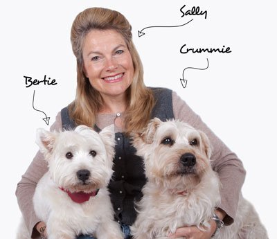 Bertie, Sally and Crummie with labels