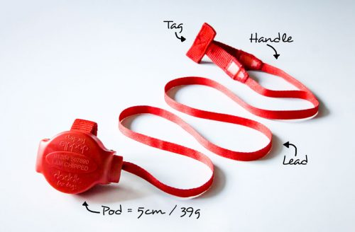Doddle pod for harnesses extendable dog lead